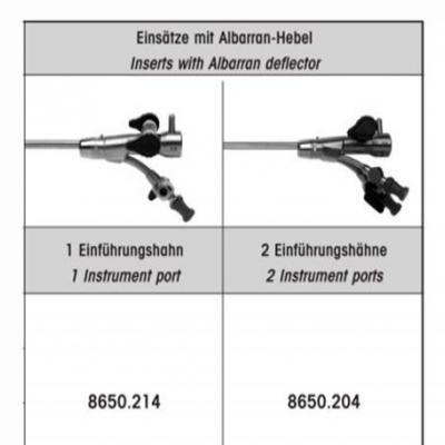 德国狼牌wolf膀胱镜器械单器械管道调节鞘8650.214