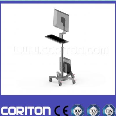 可调高度移动电脑推车配置丰富移动查房手推车