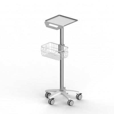 固定高度推车台面推车两层支架带抽屉心电图机推车