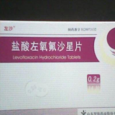 盐酸左氧氟沙星片0.2克*14片